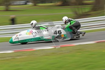 © Octane Photographic Ltd. Wirral 100, 28th April 2012. Sidecars. Anthony Eades/Ian Greensmith. Qualifying race.  Digital ref : 0308cb7d9147