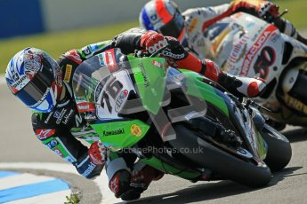 © Octane Photographic Ltd. 2012 World Superbike Championship – European GP – Donington Park. Friday 11th May 2012. WSBK Free Practice. Loris Baz - Kawasaki ZX-10R. Digital Ref : 0328cb1d2343