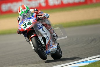 © Octane Photographic Ltd. 2012 World Superbike Championship – European GP – Donington Park. Friday 11th May 2012. WSBK Free Practice. Davide Giuliano - Ducati 1098R. Digital Ref : 0328cb1d2605
