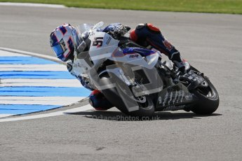 © Octane Photographic Ltd. 2012 World Superbike Championship – European GP – Donington Park. Friday 11th May 2012. WSBK Free Practice. Leon Haslam - BMW S1000RR. Digital Ref : 0328lw7d3215