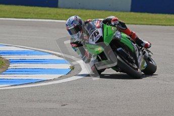 © Octane Photographic Ltd. 2012 World Superbike Championship – European GP – Donington Park. Friday 11th May 2012. WSBK Free Practice. Loris Baz - Kawasaki ZX-10R. Digital Ref : 0328lw7d3292