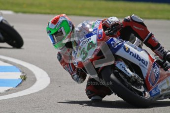 © Octane Photographic Ltd. 2012 World Superbike Championship – European GP – Donington Park. Friday 11th May 2012. WSBK Free Practice. Davide Giuliano - Ducati 1098R. Digital Ref : 0328lw7d3372