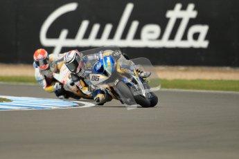 © Octane Photographic Ltd 2012. World Superbike Championship – European GP – Donington Park, Sunday 13th May 2012. Race 1. Ayrton Badovini and Jakob Smrz. Digital Ref : 0335cb1d5176