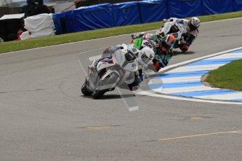 © Octane Photographic Ltd 2012. World Superbike Championship – European GP – Donington Park, Sunday 13th May 2012. Race 1. Leon Haslam, Tom Sykes and Marco Melandri. Digital Ref : 0335lw7d7002