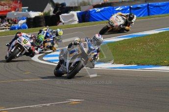 © Octane Photographic Ltd 2012. World Superbike Championship – European GP – Donington Park, Sunday 13th May 2012. Race 2. Ayrton Badovini, Chaz Davies and Michel Fabrizio. Digital Ref : 0337lw7d7714
