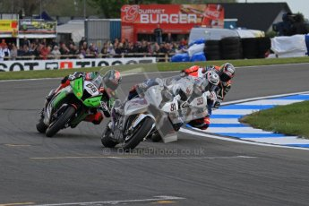 © Octane Photographic Ltd 2012. World Superbike Championship – European GP – Donington Park, Sunday 13th May 2012. Race 2. Leon Haslam, Marco Melandri, Tom Sykes and Max Biaggi. Digital Ref : 0337lw7d8269