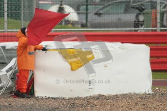 © Octane Photographic Ltd. World Superbike Championship – Silverstone, Race 2. Sunday 5th August 2012. Red flags stop the race due to standing water on track. Digital Ref :