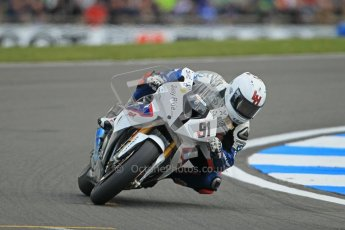 © Octane Photographic Ltd 2012. World Superbike Championship – European GP – Donington Park. Superpole session 1. 2nd Place - Leon Haslam - BMW S1000RR. Digital Ref :  0334cb1d4289