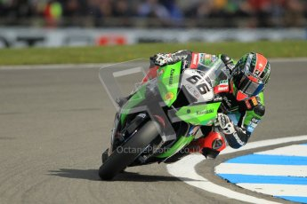 © Octane Photographic Ltd 2012. World Superbike Championship – European GP – Donington Park. Superpole session 1. Pole position - Tom Sykes - Kawasaki ZX-10R. Digital Ref :  0334cb1d4313