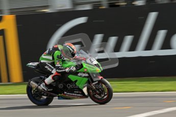 © Octane Photographic Ltd 2012. World Superbike Championship – European GP – Donington Park. Superpole session 3. Pole position - Tom Sykes - Kawasaki ZX-10R. Digital Ref :  0334cb7d2239