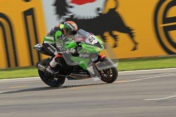 © Octane Photographic Ltd 2012. World Superbike Championship – European GP – Donington Park. Superpole session 3. Pole position - Tom Sykes - Kawasaki ZX-10R. Digital Ref : 0334cb7d2256