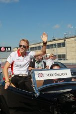 World © Octane Photographic Ltd. F1 USA GP, Austin, Texas, Circuit of the Americas (COTA), Sunday 17th November 2013 - Drivers' parade. Marussia F1 Team MR02 - Max Chilton. Digital Ref : 0860lw1d2455