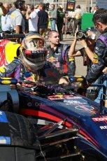 World © Octane Photographic Ltd. F1 USA GP, Austin, Texas, Circuit of the Americas (COTA), Sunday 17th November 2013 - Grid. Infiniti Red Bull Racing RB9 - Sebastian Vettel. Digital Ref : 0860lw1d2655