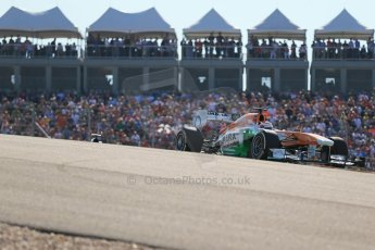 World © Octane Photographic Ltd. F1 USA GP, Austin, Texas, Circuit of the Americas (COTA), Sunday 17th November 2013 - Race. Sahara Force India VJM06 - Paul di Resta. Digital Ref : 0861lw1d6004