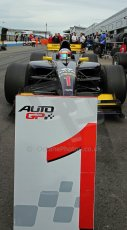 World © Octane Photographic Ltd./Carl Jones. Sunday September 1st 2013, AutoGP Race 2, Donington Park - Narain Karthikeyan, Super Nova. Digital Ref : 0807cj7d4560