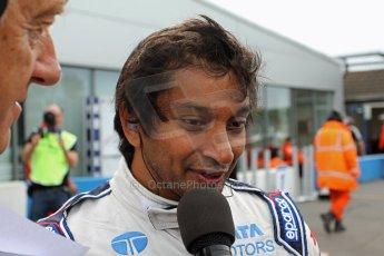 World © Octane Photographic Ltd./Carl Jones. Sunday September 1st 2013, AutoGP Race 2, Donington Park - Narain Karthikeyan, Super Nova. Digital Ref : 0807cj7d4594