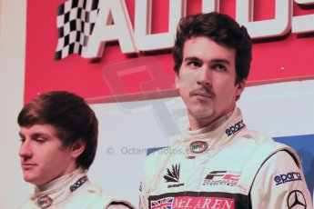 World ©  Octane Photographic Ltd./Carl Jones. January 10th 2013. Autosport International. 2012 Autosport McLaren BRDC Young Driver finalists, Jordan King and Josh Hill. Digital ref :