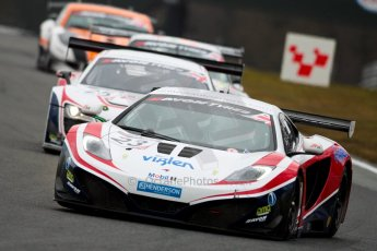 World © Octane Photographic Ltd. Avon Tyres British GT Championship. Monday 1st April 2013 Oulton Park – Race 1. McLaren MP4-12C GT3 – United Autosports – Zak Brown, Glynn Geddie and R8 LMS Ultra – United Autosports – Zak Brown, Matt Bell, Mark Patterson. Digtal Ref : 0623ce1d8781