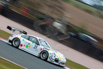 World © Octane Photographic Ltd. Avon Tyres British GT Championship. Monday 1st April 2013 Oulton Park – Race 2. Porsche 997 GT3-R – Trackspeed - Nick Tandy, David Ashburn. Digital Ref : 0625ce1d9941