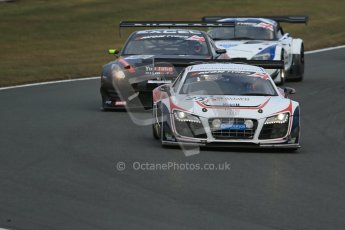 World © Octane Photographic Ltd. Avon Tyres British GT Championship. Monday 1st April 2013 Oulton Park – Race 2. Audi R8 LMS Ultra – United Autosports – Zak Brown, Matt Bell, Mark Patterson. Digtal Ref : 0625lw1d0042