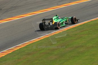 World © Octane Photographic Ltd. F1 Belgian GP - Spa - Francorchamps. Friday 23rd August 2013. Practice 2. Caterham F1 Team CT03 - Giedo van der Garde. Digital Ref : 0787lw1d7764