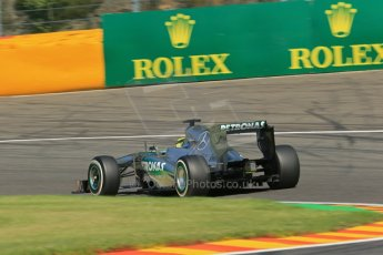 World © Octane Photographic Ltd. F1 Belgian GP - Spa - Francorchamps. Thursday. 25th July 2013. Practice 2. Mercedes AMG Petronas F1 W04 - Nico Rosberg. Digital Ref : 0787lw1d7828