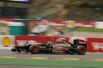World © Octane Photographic Ltd. F1 Belgian GP - Spa-Francorchamps, Saturday 24th August 2013 - Practice 3. Lotus F1 Team E21 - Kimi Raikkonen. Digital Ref : 0792lw1d5337