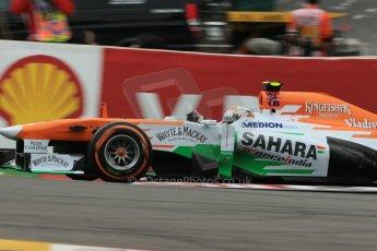 World © Octane Photographic Ltd. F1 Belgian GP - Spa-Francorchamps, Saturday 24th August 2013 - Practice 3. Sahara Force India VJM06 - Adrian Sutil. Digital Ref : 0792lw1d8801