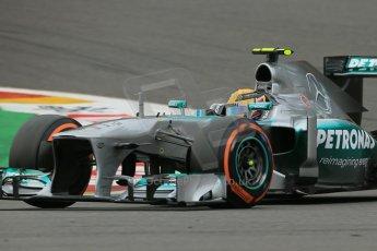 World © Octane Photographic Ltd. F1 Belgian GP - Spa-Francorchamps, Saturday 24th August 2013 - Practice 3. Mercedes AMG Petronas F1 W04 – Lewis Hamilton. Digital Ref : 0792lw1d8891