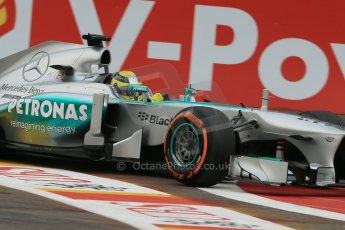 World © Octane Photographic Ltd. F1 Belgian GP - Spa-Francorchamps, Saturday 24th August 2013 - Practice 3. Mercedes AMG Petronas F1 W04 - Nico Rosberg. Digital Ref : 0792lw1d8934