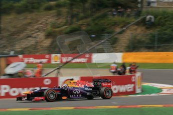World © Octane Photographic Ltd. F1 Belgian GP - Spa-Francorchamps, Saturday 24th August 2013 - Practice 3. Infiniti Red Bull Racing RB9 - Sebastian Vettel. Digital Ref : 0792lw1d9108