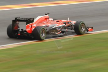 World © Octane Photographic Ltd. F1 Belgian GP - Spa-Francorchamps, Saturday 24th August 2013 - Qualifying. Marussia F1 Team MR02 - Jules Bianchi. Digital Ref : 0793cb7d2817