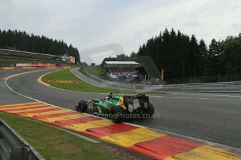 World © Octane Photographic Ltd. F1 Belgian GP - Spa-Francorchamps, Saturday 24th August 2013 - Qualifying. Caterham F1 Team CT03 - Giedo van der Garde. Digital Ref : 0793lw1d9266