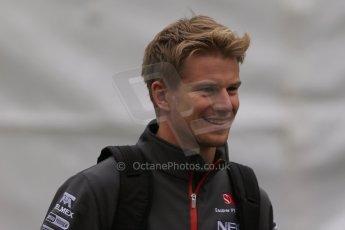 World © Octane Photographic Ltd. F1 Belgian GP - Spa-Francorchamps, Saturday 24th August 2013 - Paddock. Sauber C32 - Nico Hulkenberg. Digital Ref : 0791lw1d8178