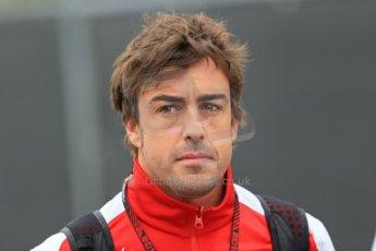World © Octane Photographic Ltd. F1 Belgian GP - Spa-Francorchamps, Saturday 24th August 2013 - Paddock. Scuderia Ferrari F138 - Fernando Alonso. Digital Ref : 0791lw1d8331