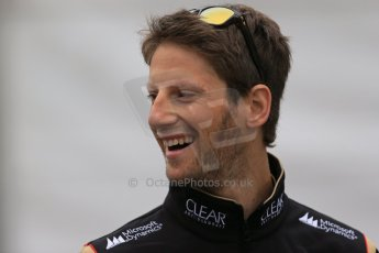 World © Octane Photographic Ltd. F1 Belgian GP - Spa-Francorchamps, Saturday 24th August 2013 - Paddock. Lotus F1 Team E21 - Romain Grosjean. Digital Ref : 0791lw1d8366