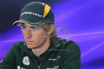 World © Octane Photographic Ltd. F1 Belgian GP - Spa - Francorchamps. Thursday 22nd August 2013. FIA Press Conference. Caterham F1 Team CT03 - Charles Pic. Digital Ref : 0782lw1d6883