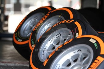 World © Octane Photographic Ltd. GP2 Paddock, Belgian GP, Spa Francorchamps, Thursday 22nd August 2013. Pirelli tyres. Digital Ref :