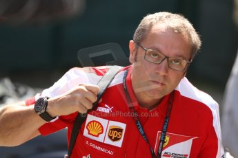 World © Octane Photographic Ltd. F1 Paddock, Belgian GP, Spa Francorchamps, Thursday 22nd August 2013. Stefano Domenicali - Scuderia Ferrari. Digital Ref :