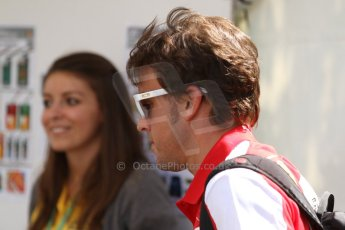 World © Octane Photographic Ltd. F1 Paddock, Belgian GP, Spa Francorchamps, Thursday 22nd August 2013. Fernando Alonso - Scuderia Ferrari. Digital Ref :