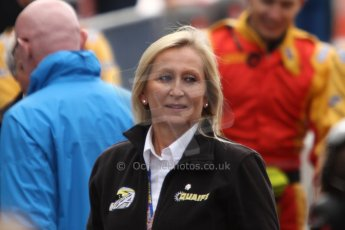World © Octane Photographic Ltd. GP2 Belgian GP, Spa Francorchamps, Sunday 25th August 2013. Race 2. Sharon Quaife-Hobbs, mother of Adrian Quaife-Hobbs - Hilmer Motorsport. Digital Ref : 0796cb7d3409