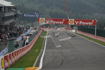 World © Octane Photographic Ltd. GP2 Belgian GP, Spa Francorchamps, Sunday 25th August 2013. Race 2 start. Digital Ref : 0796lw1d9923