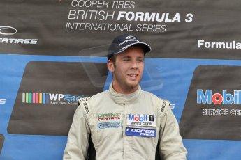World © Octane Photographic Ltd. British Formula 3 – Brands Hatch. Saturday 11th August 2013 – Race 2. National championship podium. Digital Ref :