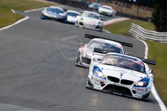 World © Octane Photographic Ltd./Chris Enion. Avon Tyres British GT Championship - Saturday 30th March 2013 Oulton Park – Practice 2. BMW Z4 GT3 – Ecurie Ecosse – Oliver Bryant, Marco Attard and Audi R8 LMS Ultra – United Autosports – Zak Brown, Matt Bell, Mark Patterson. Digital Ref :