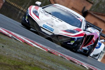 World © Octane Photographic Ltd./Chris Enion. Avon Tyres British GT Championship - Saturday 30th March 2013 Oulton Park – Practice 2. McLaren MP4-12C GT3 – United Autosports – Mark Blundell, Roger Wills. Digtal Ref : 0605ce1d5421