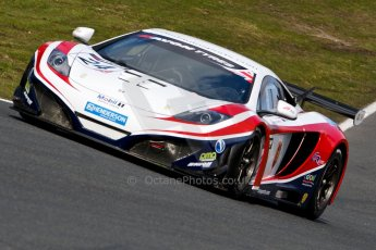 World © Octane Photographic Ltd./Chris Enion. Avon Tyres British GT Championship - Saturday 30th March 2013 Oulton Park – Practice 2. McLaren MP4-12C GT3 – United Autosports – Mark Blundell, Roger Wills. Digtal Ref : 0605ce1d5590
