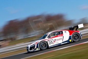 World © Octane Photographic Ltd./Chris Enion. Avon Tyres British GT Championship - Saturday 30th March 2013 Oulton Park – Practice 1. Audi R8 LMS Ultra – United Autosports – Zak Brown, Matt Bell, Mark Patterson. Digtal Ref : 0604ce1d4566