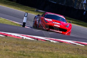 World © Octane Photographic Ltd./Chris Enion. Avon Tyres British GT Championship - Saturday 30th March 2013 Oulton Park – Practice 1. Ferrari 458 Italia, FF Corse – Rob Barff, Gary Eastwood. Digital Ref : 0604ce1d4754