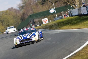 World © Octane Photographic Ltd./Chris Enion. Avon Tyres British GT Championship - Saturday 30th March 2013 Oulton Park – Practice 1. Aston Martin V12 Vantage GT3 – Beechdean Motorsport – Jonathan Adams, Andrew Howard. Digital Ref : 0604ce1d4920