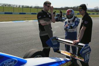 World © Octane Photographic Ltd. Formula Ford, Donington Park Saturday 20th April 2013. Enigma Motorsport – Mygale M12SJ/Scholar – George Blundell. Digital Ref :